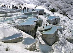 Pamukkale in Turkey is one of the most mysterious and healthiest places in the world