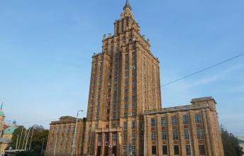 Latvian Academy of Science - Stalin's Birthday Cake is the Most Prominent Stalin Architecture building in the world
