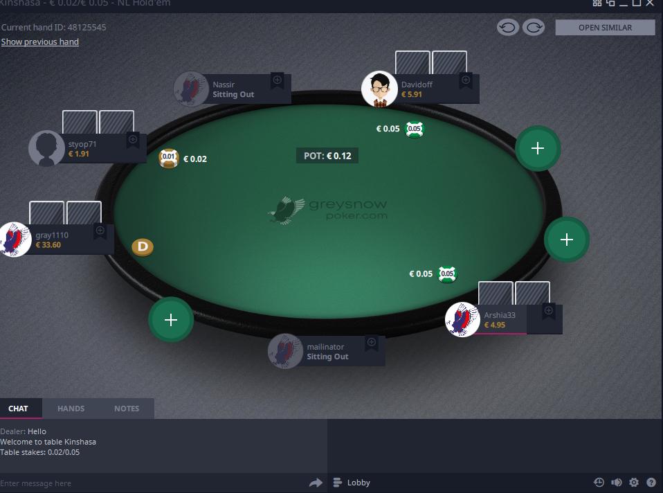 GreySnow Pokerscreenshot thumbnail