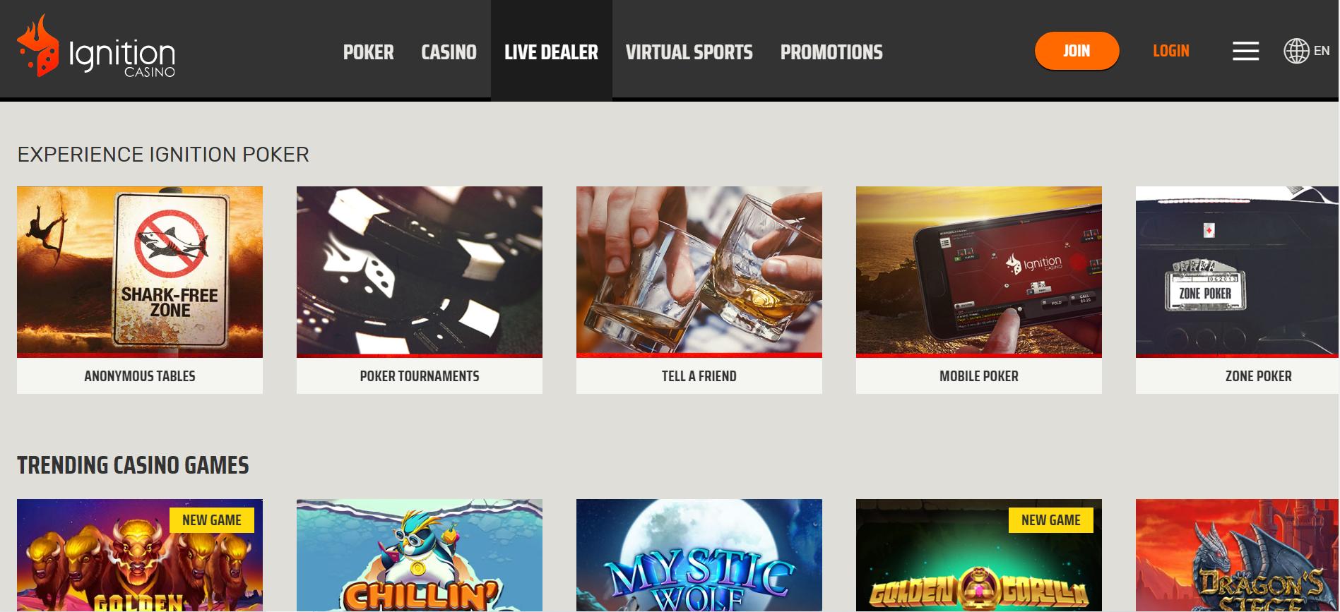 Ignition Casino (US Poker)screenshot thumbnail