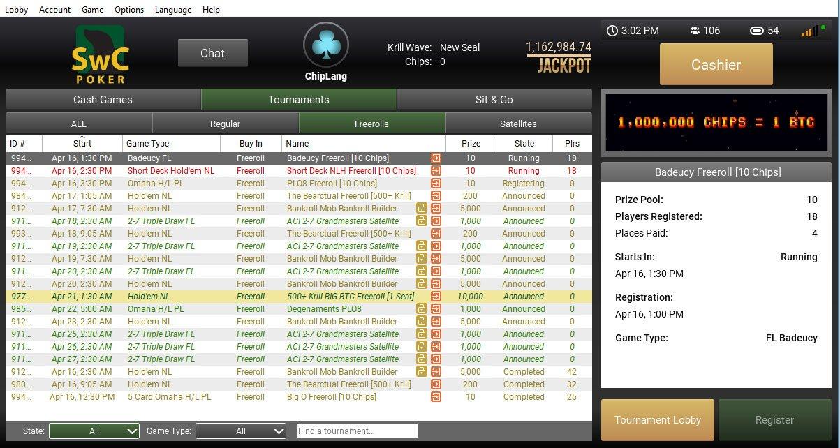 SwC Pokerscreenshot thumbnail