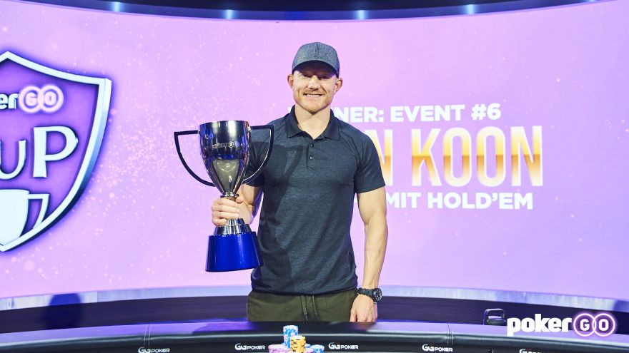 Jason Koon lifts PokerGO Cup Event 6 Title for $324,000