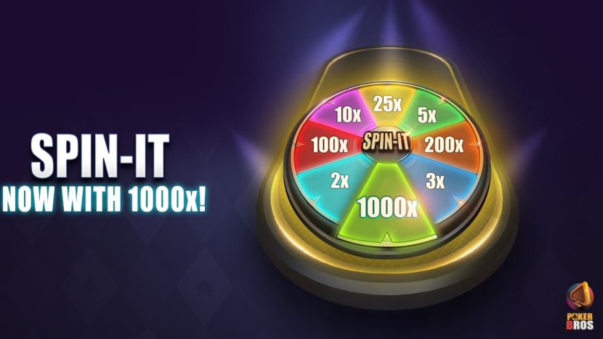 PokerBROS Spin-It Now Features 1000x Multiplier!