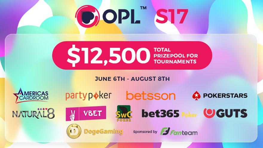 Sunday Start for 81 Tournament Freeroll Packed OPL Season 17