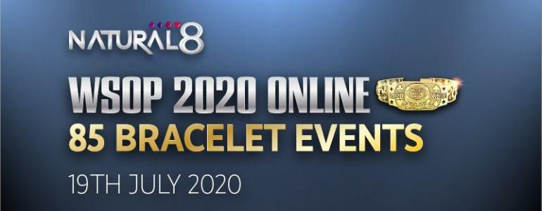 2020 World Series of Poker Online Announced with 85 Bracelets Up for Grabs