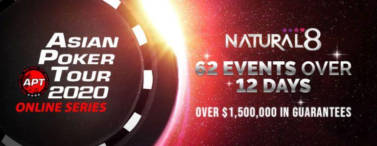 Asian Poker Tour 2020 Online Series Debuts on Natural8