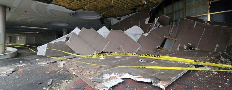 Atlantic Club Casino Entrance Suffers Collapsed Ceiling