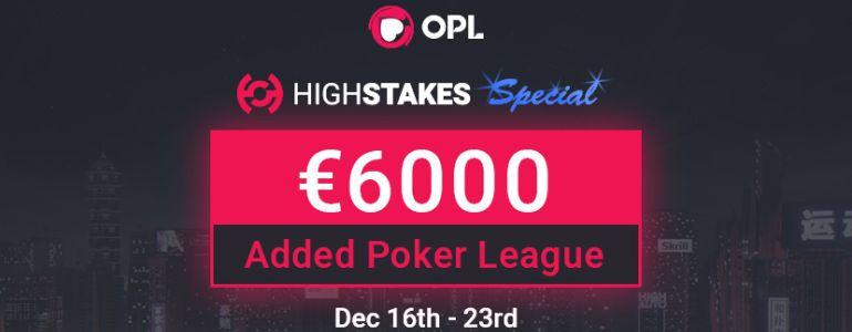 Christmas Comes Early for OPL Fans with €6000 HighStakes.com Series