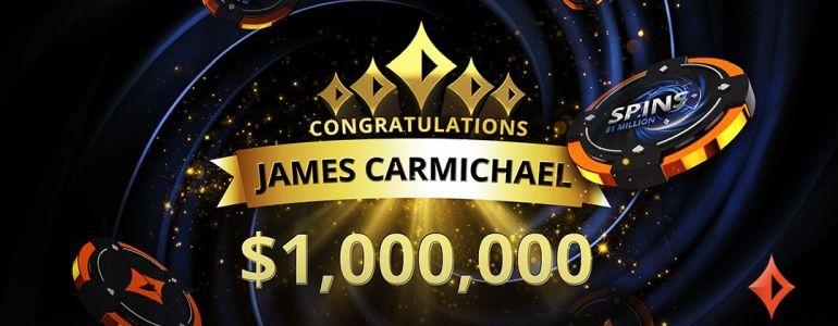 James James23C Carmichael Becomes First partypoker SPINS Millionaire