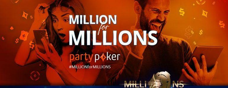 Million for Millions Promos Guarantees Thousands of Satellite Tickets