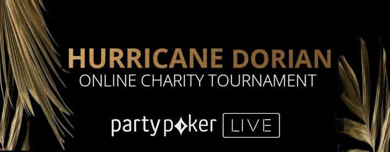 partypoker LIVE Announces Hurricane Dorian Online Charity Tournament