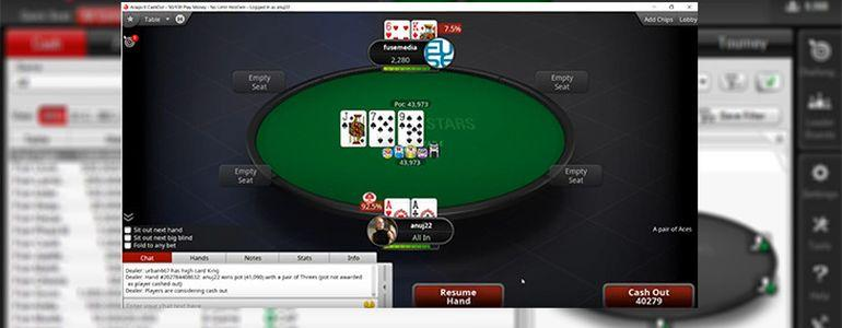PokerStars Launches New All-In Cash Out Gimmick
