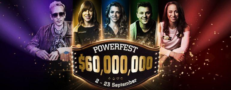 The $60Million partypoker POWERFEST is Set to Roll!