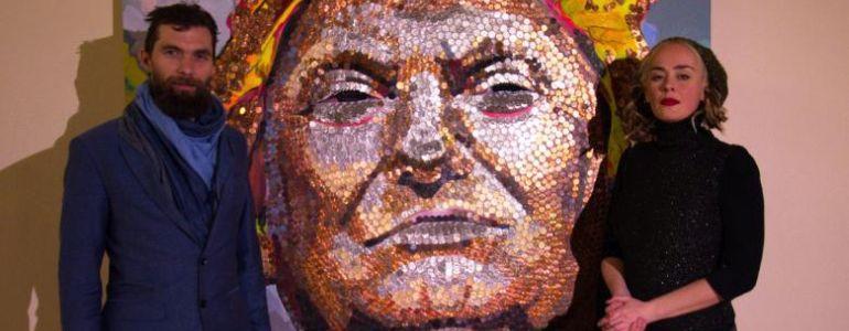 The Poker  Chips on Donald Trump's Shoulder