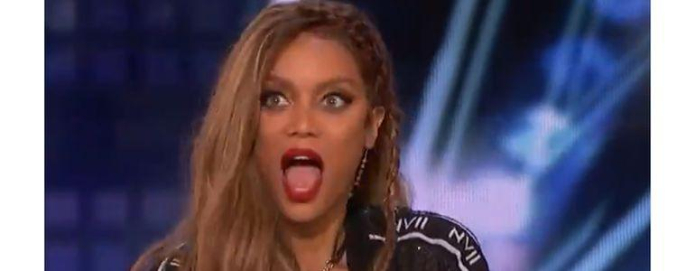 Tyra Banks Stunned by America's Got Talent Card Trick