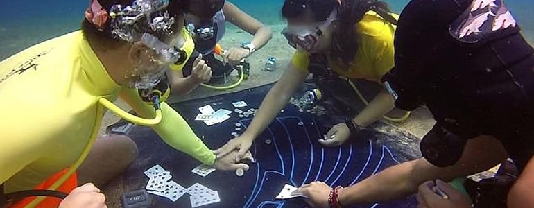 Divers in Egypt Bring Poker to the Sharks