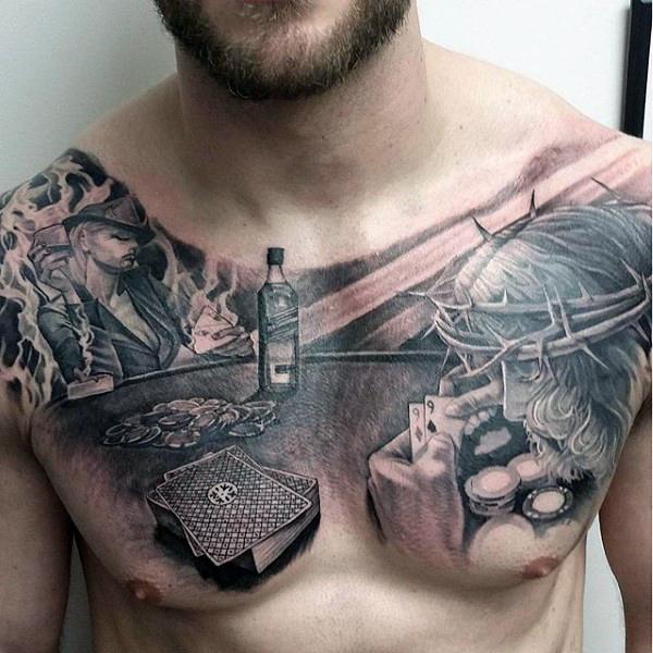 poker tattoos