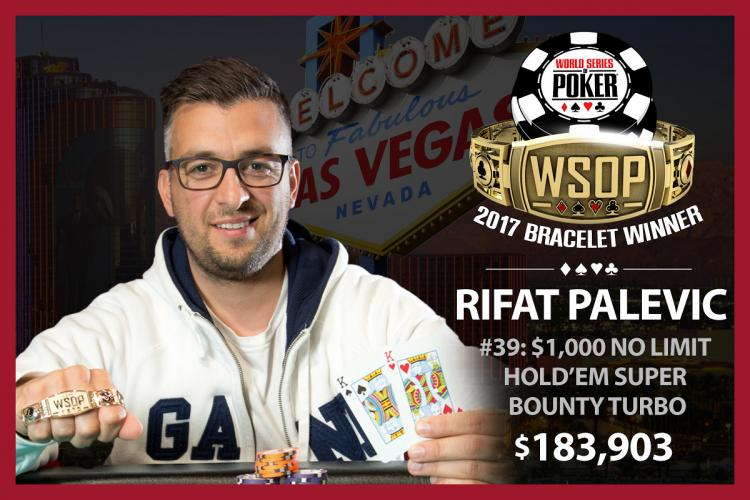Sweden's Rifat Palevic Binks WSOP $1K Super Turbo Bounty for $183,903