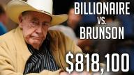 Poker Hands - Billionaire Vs Brunson!