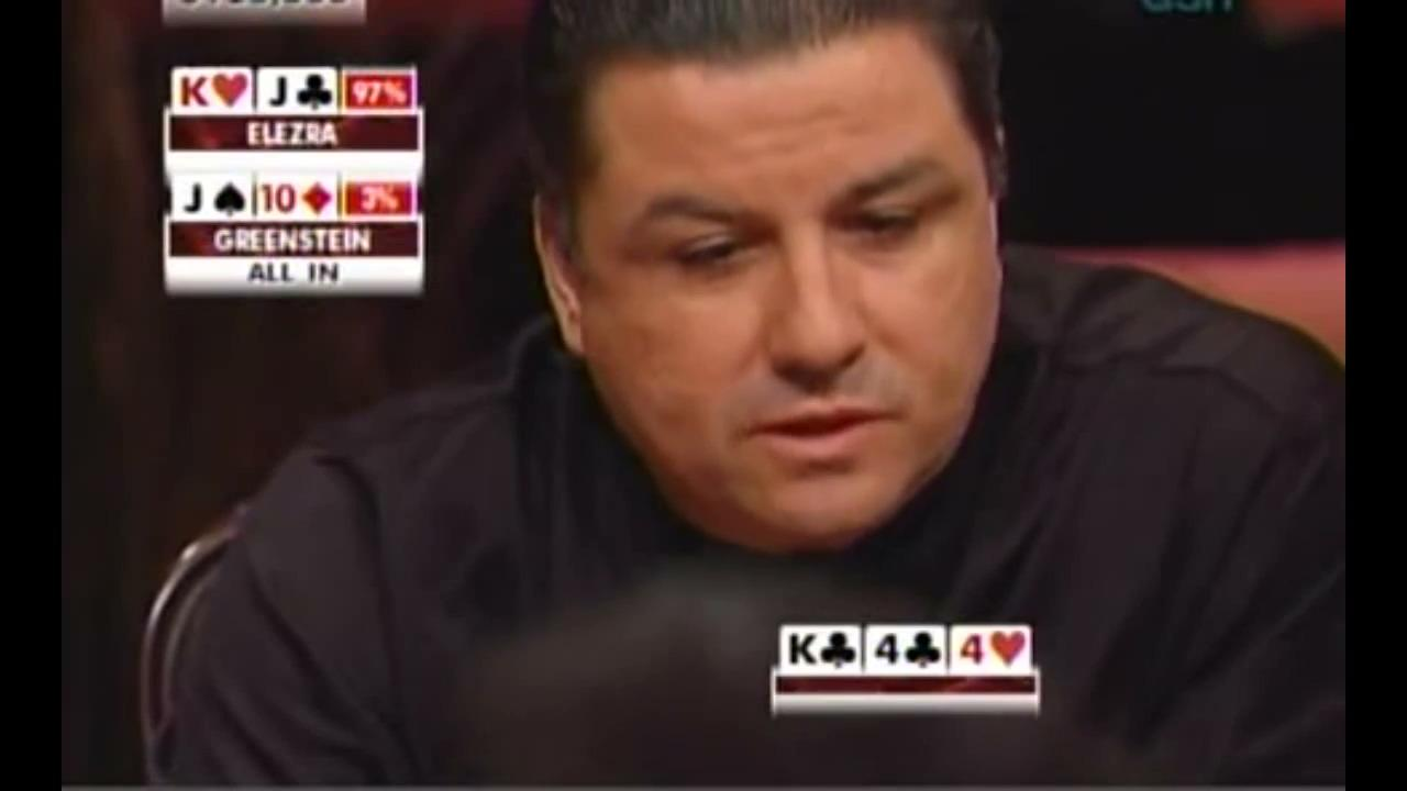 High Stakes Poker - Greenstein Bluffs All-In Against Elezra