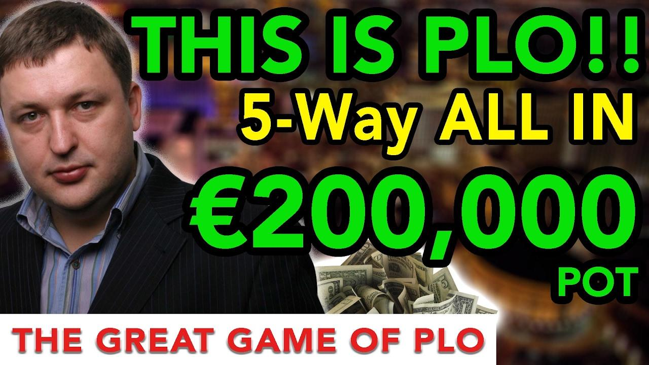 €200,000 5 Way All-In CRAZY Hand!