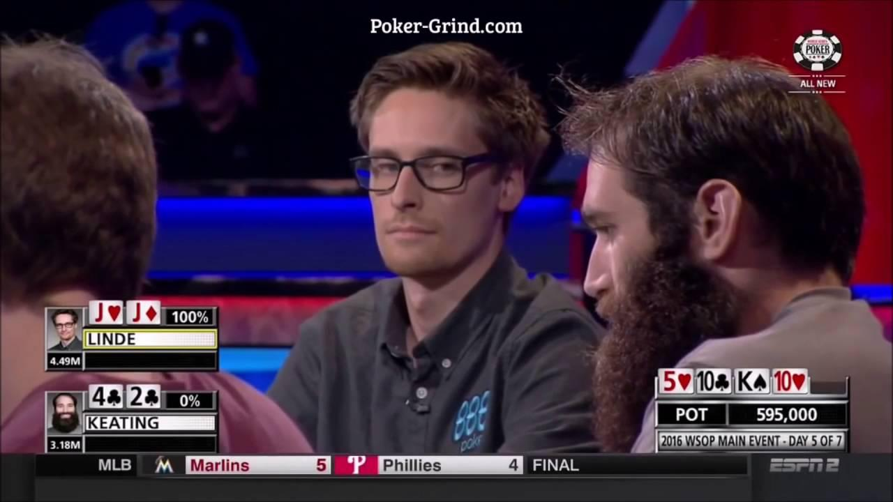 2016 WSOP - Alex Keating Outplays Per Linde