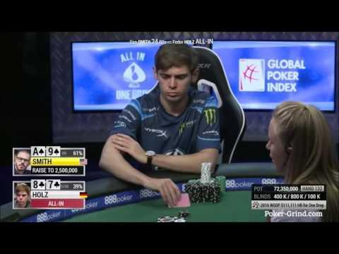 2016 WSOP - Fedor Holz Wins High Roller For One Drop