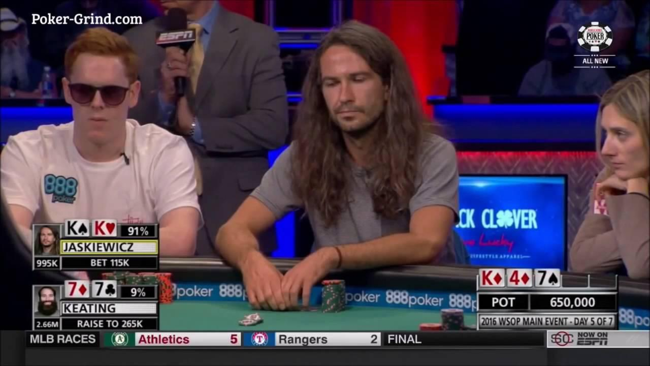 2016 WSOP - Huge Set Over Set Hand