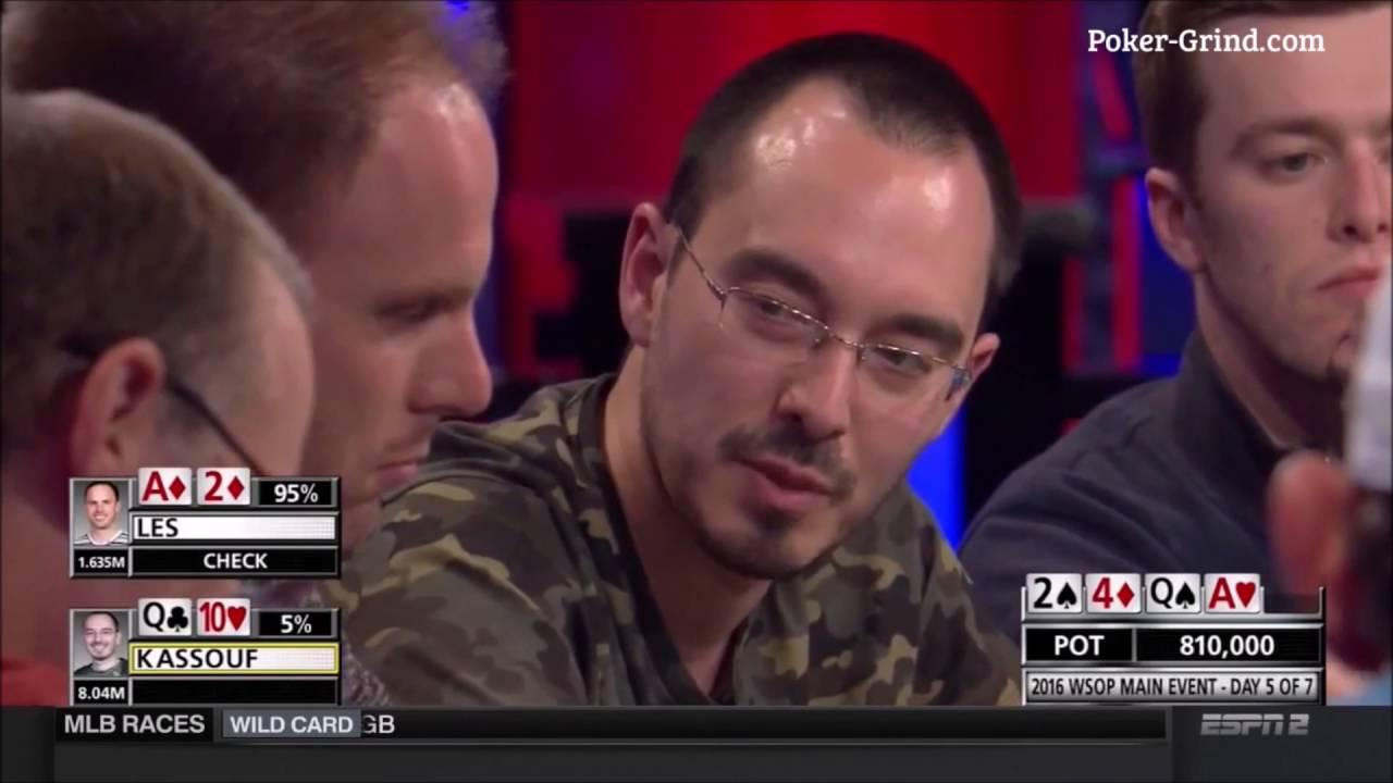 2016 WSOP - Will Kassouf Vs Jason Les