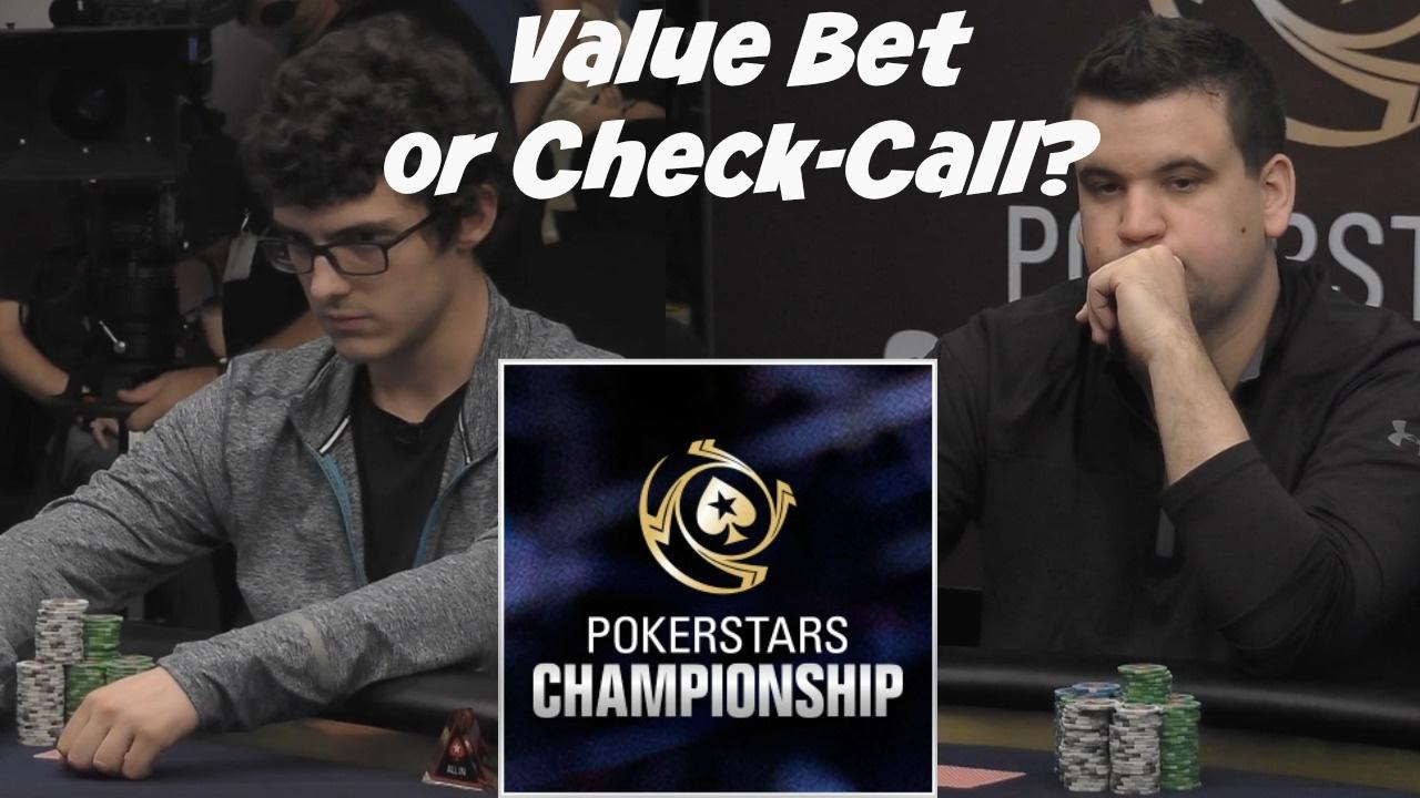 Daniel Negreanu - Value Bet or Check-Call?