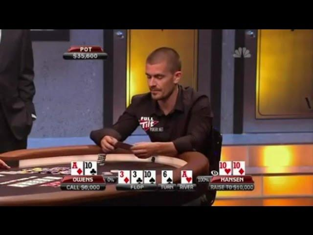 Gus Hansen Heads-Up Against Amateur Player