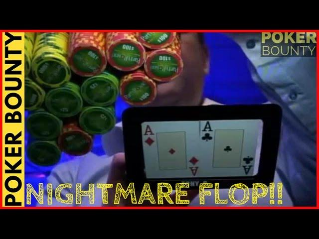 Party Poker Big Game - Slow Playing Pocket Aces
