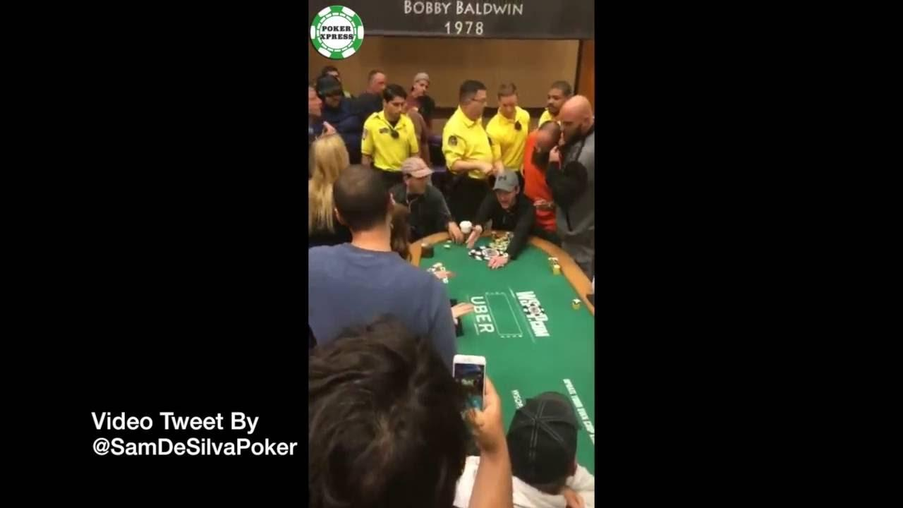 Player Gets Dragged Out Of The 2016 WSOP