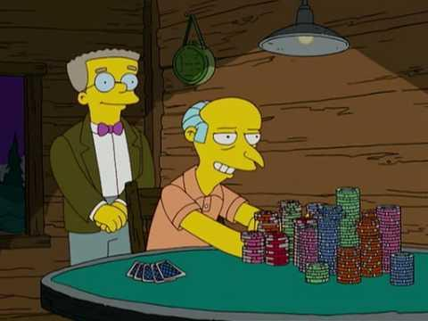 The Simpsons Crazy Poker Hand