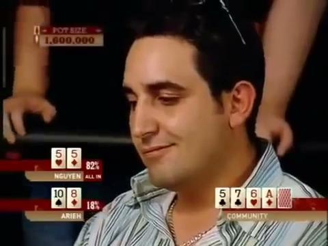 WSOP 2004 - Arieh Semi-Bluffs All In