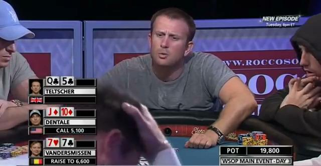 WSOP 2012 - Dentale vs Teltscher Bluff Battle