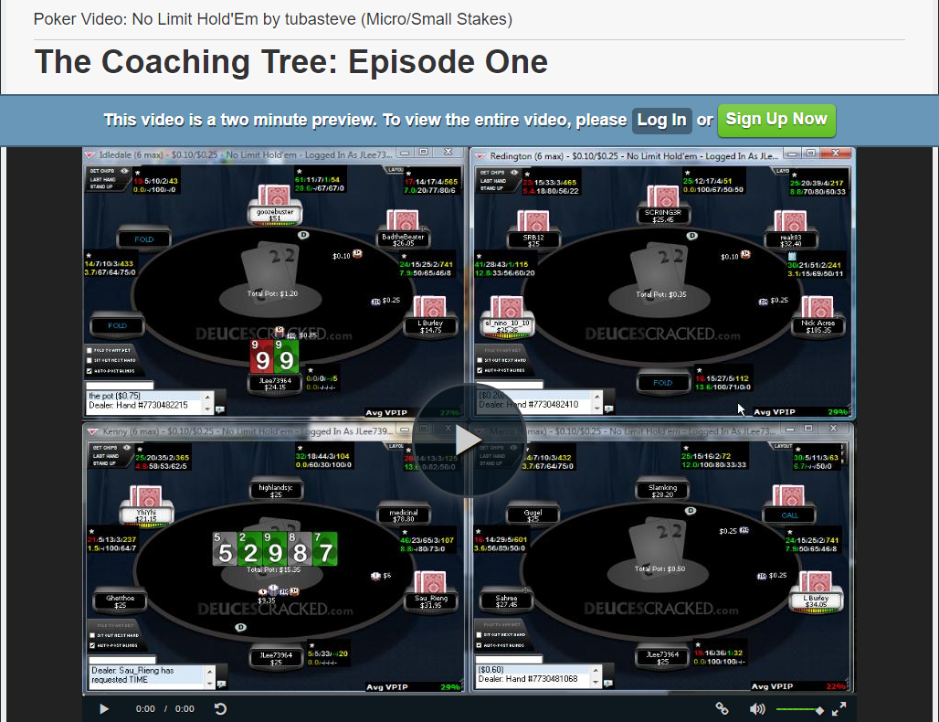 DeucesCracked Poker Training Site Review - PokerVIP