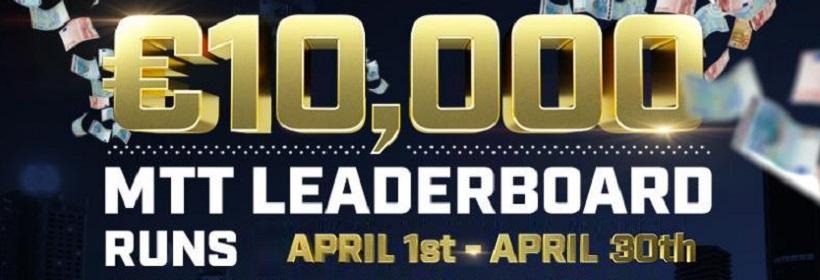 €10,000 April Highstakes MTT Leaderboard
