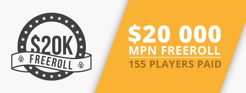 ♠ $20K MPN Freeroll  ♠ April 2017