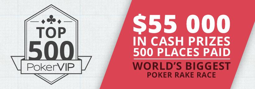 $55,000 PokerVIP Top 500 April 2016