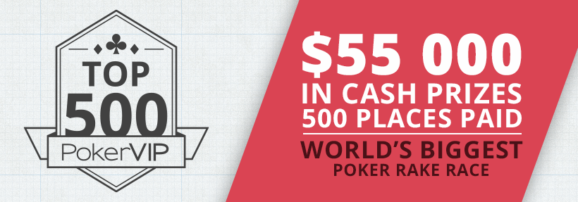 $55,000 PokerVIP Top 500 Feb 2016