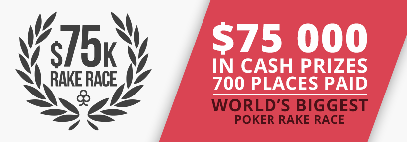 $75,000 Rake Race ♠ November 2016
