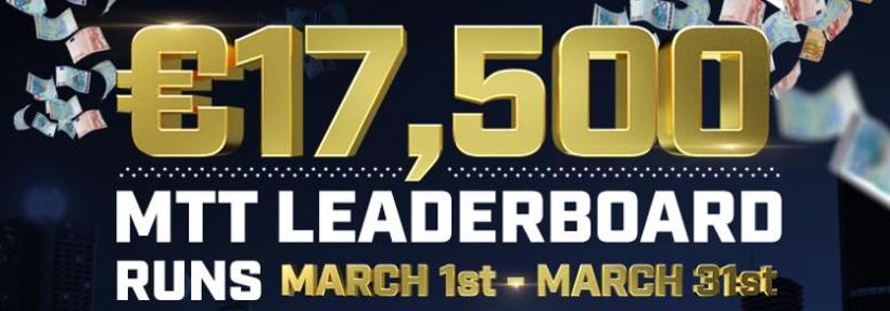 €17,500 March Highstakes MTT Leaderboard