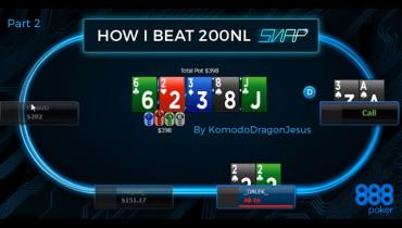 How I Beat $200nl SNAP On 888Poker Part 2