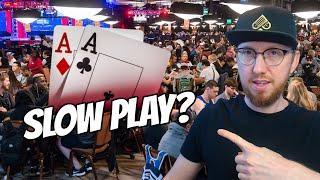 When to SLOW PLAY Pocket Aces Preflop (Tournament Poker Strategy)