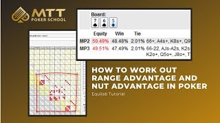 How To Work Out Range Advantage And Nut Advantage In Poker Equilab Tutorial Coaching Videos Pokervip