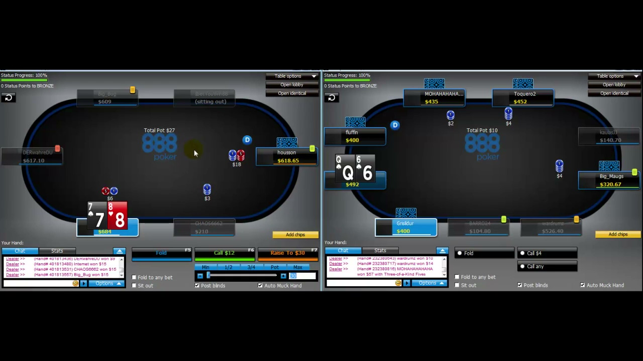 lnternet fate with 888: NL400-600 - Coaching Videos - PokerVIP