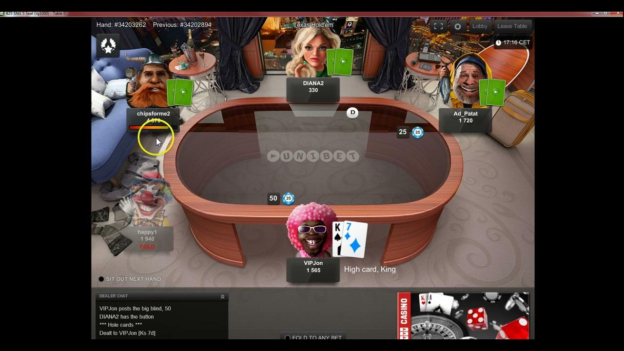 Top Secret Site Unibet - €25 SnG - Coaching Videos - PokerVIP